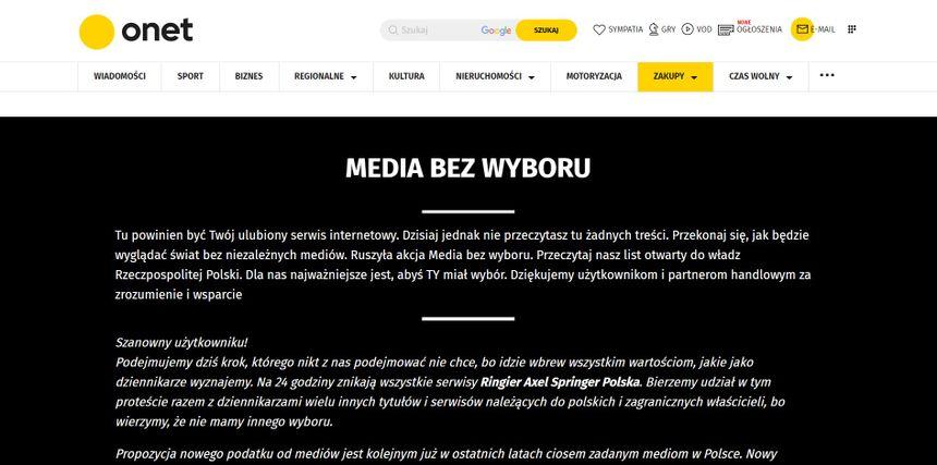 Onet.pl home page, Salon24