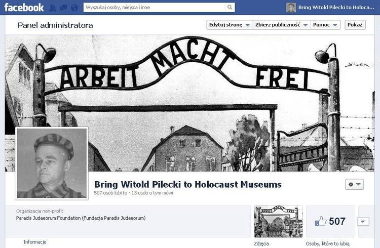 "Strona ""Bring Witold Pilecki to Holocaust Museums"""