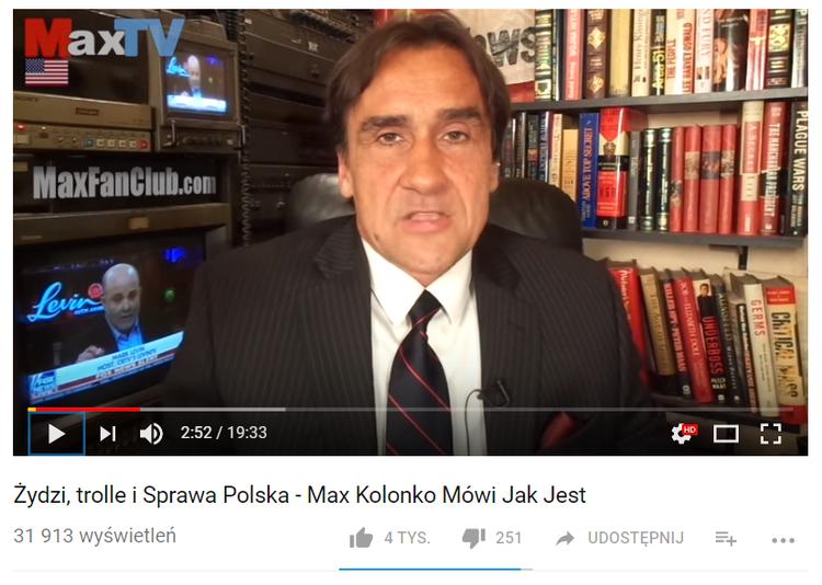 Mariusz Max Kolonko grozi polskim internautom i