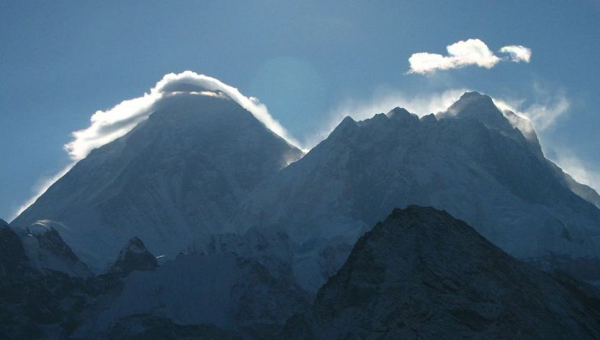 Mount Everest i Mount Lhotse