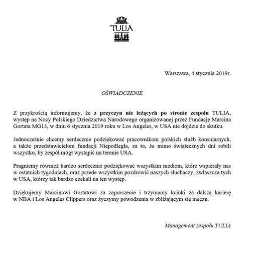 Tulia Nie Wystąpiła Przed Meczem Marcina Gortata Blog Fosil