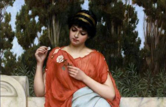 "John William Godward,  ""Kocha, nie kocha..."" (1896)"
