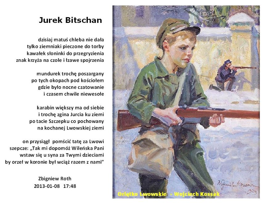 Jurek Bitschan Lwowskie Orlątko Blog Ludek
